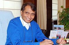 Mr Suresh prabhu (Rail minister)